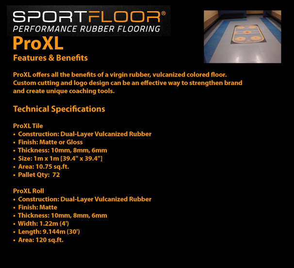 SPORTFLOOR - ProXL Features and Benefits / Technical Specifications