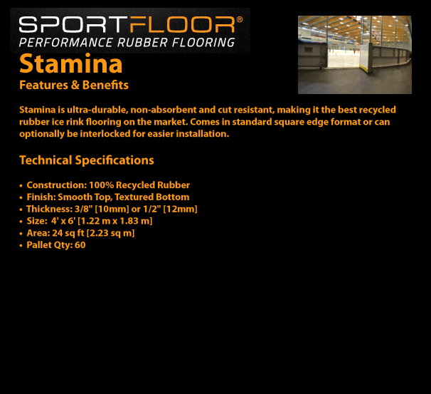 SPORTFLOOR - Stamina Features and Benefits / Technical Specifications